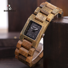 BOBO BIRD Casual Women Quartz Watches Ladies Wood Wristwatch Best Gift For Girlfriend Birthday Present relogio feminino L S02