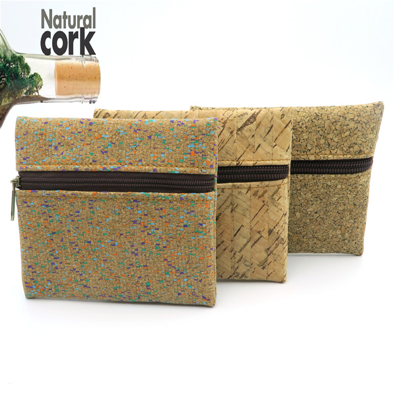 Natural cork handmade coin purse coin bag vegan cork women wallet Wooden vintage BAG-146  from Portugal natural cork watch strap brown cork with pu leather handmade vegan high quality e 001