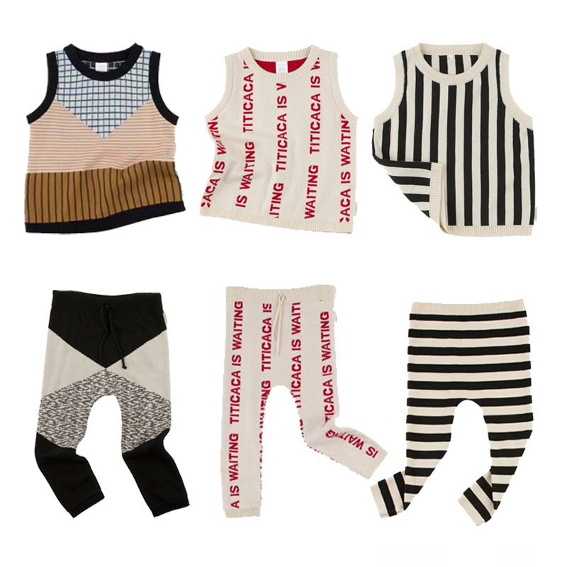 BBK 2017 Baby Boys Tiny Cotton Knitted sweaters Warm kids Vest for girl Waistcoat Children Outerwear