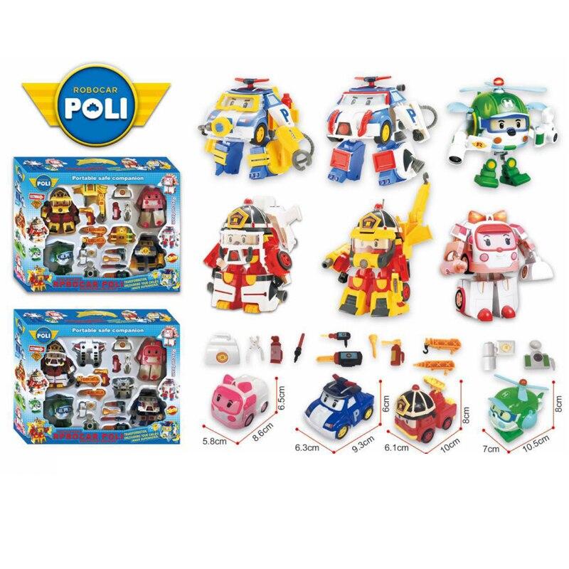 2019 New Robocar Poli Korea Battle Version Toys Super Wings Robot Transformation Anime Action Figure Toys For Children