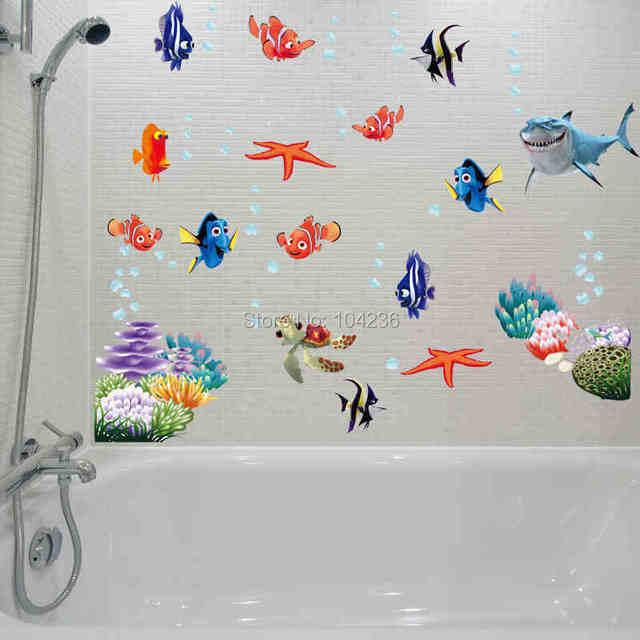 Charmant 3d Movie Sticker Finding Nemo Wall Decals Nursery Removable Mural Art  Cartoon Stickers Bathroom Diy Colorful