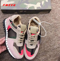 Rivet Sneakers Casual Flat Platform SHOES Platform Genuine Leather Super Quality Comfortable Spring/Autumn Women Leather Flats
