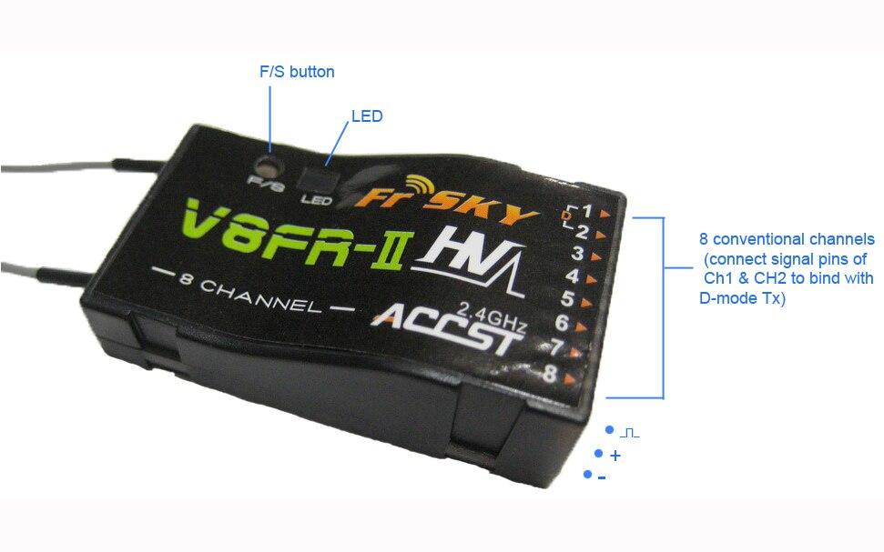 FrSky V8FR-II 2.4GHz 8Channels ACCST Receiver FrSky V8FR-II 2.4GHz 8Channels ACCST Receiver