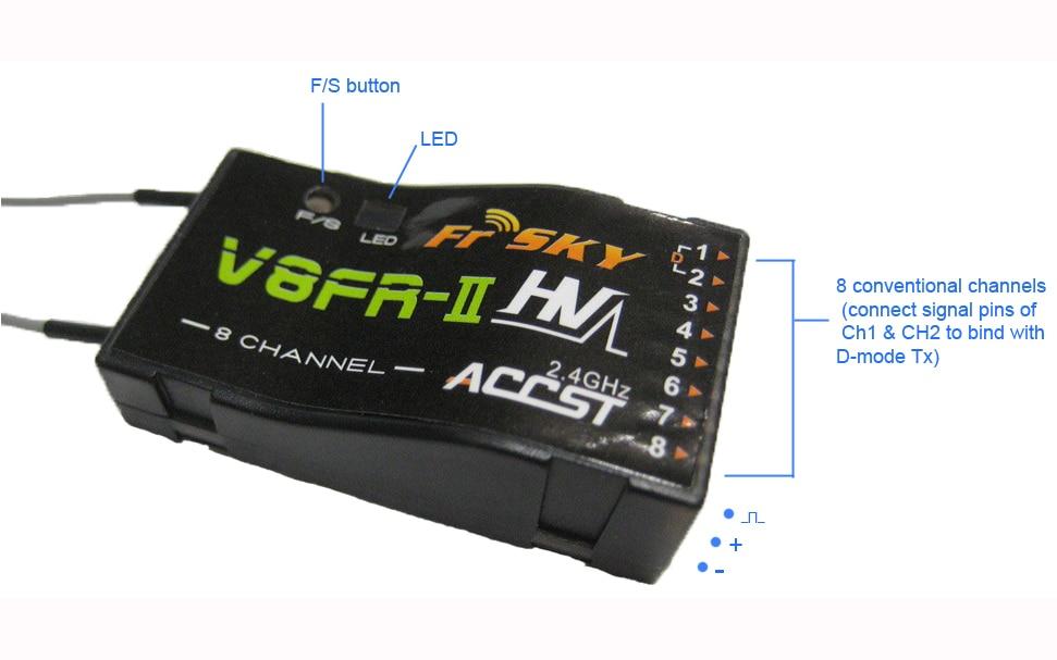 FrSky V8FR-II 2.4GHz 8Channels ACCST Receiver