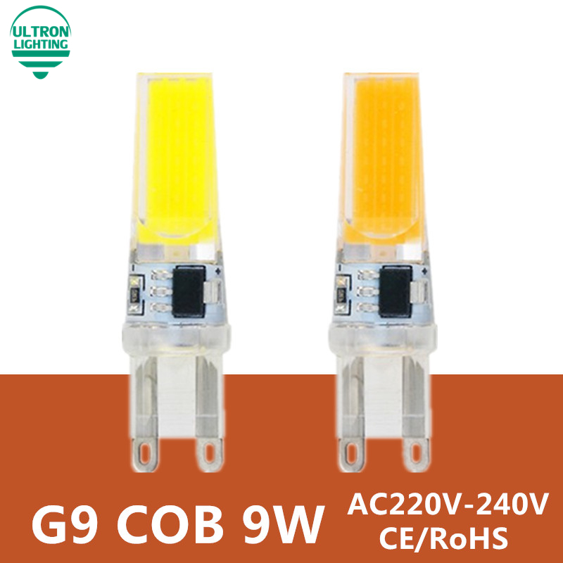 G9 LED лампа 220 В 9 Вт COB SMD Светодиодное освещение светильники заменить галогенные фары Люстра Свет 230 В 240 В лампада LED G9 лампы