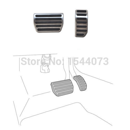 Stainless NON Drilling AT accelerator Fuel Brake Pedals