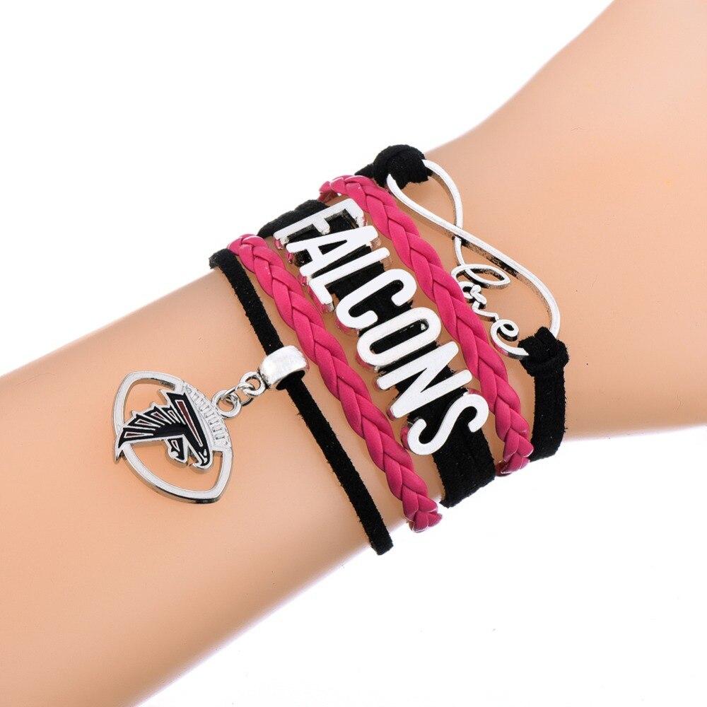 Atlanta Falcons Brown Football Bracelet