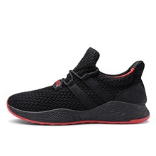 Fashion Brand Men Shoes Male Mesh Flats Slip On Big Size Knit Upper Breathable Lightweight Men Sneakers Chunky Shoes