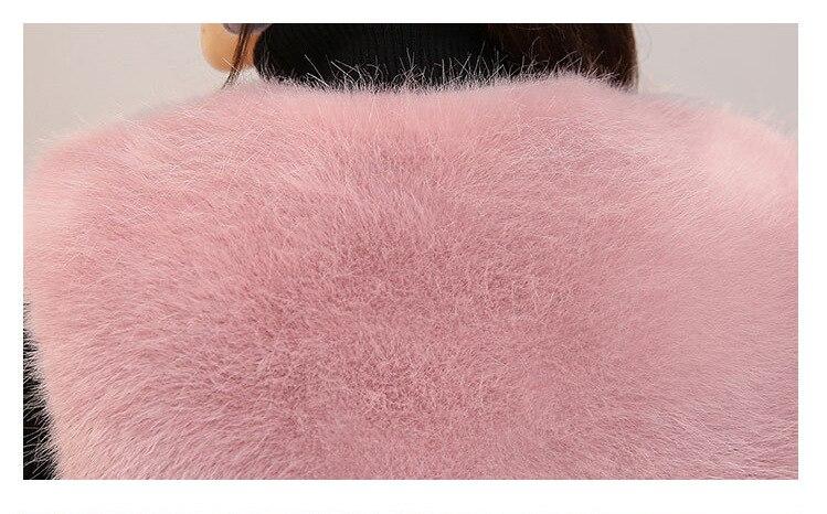 Nouvelle Mode Gilet Imitation Vêtements Furry Veste Faux Fourrure De Femmes D'hiver Renard Tan Femme kaki En noir Automne Et Manteau rrw01dzq