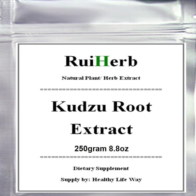 250gram 8.8oz Kudzu Root Extract Powder free shipping 2018 pure maca 20 1 extract powder root powder for man and woman enhance energy high quality free shipping
