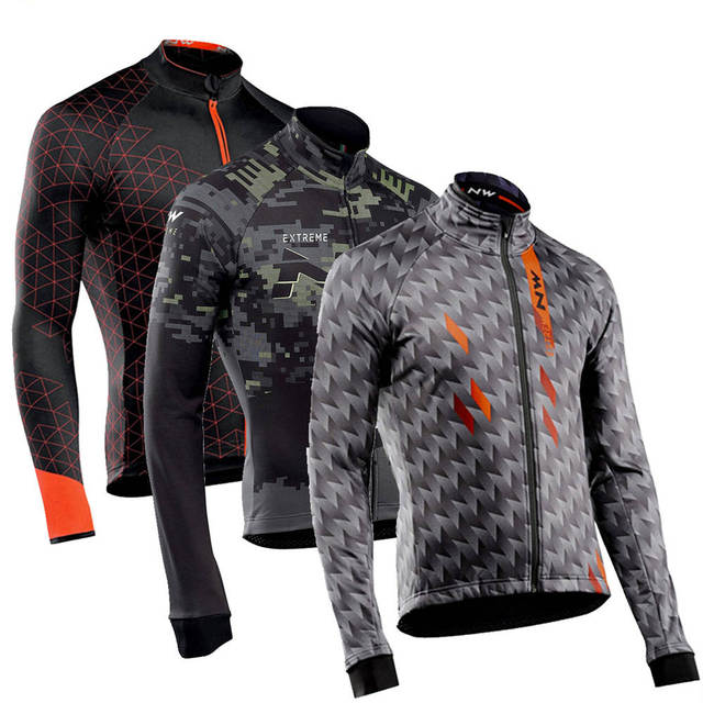 Men's Cycling Jersey Long Sleeve Autumn Bicycle MTB Road Bike Tops Clothing Wear Maillot Ropa Ciclismo