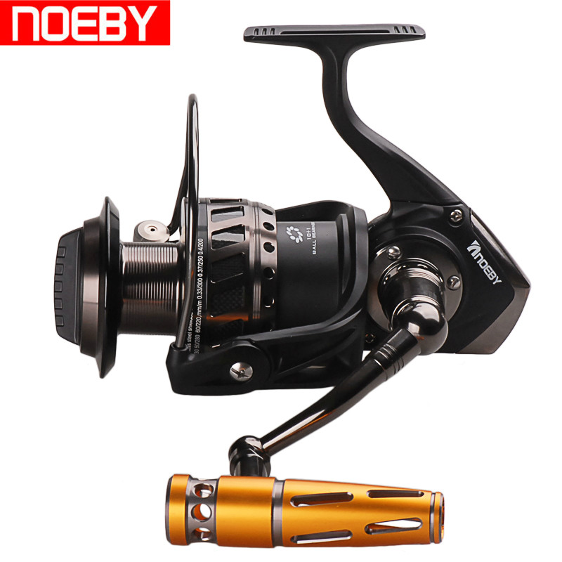 Noeby Full Metal Spinning Fishing Reel Max Drag 30kg 4.1:1 Moulinet Peche for Carp Weeve Feeder Carretilha Pesca Fish Tackle 14cm 7cm pva mesh bag for crap fish boilies water dissolving feeder sea carp tackle material accessories 50pcs feeder fishing