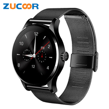 Original Round K88H Bluetooth Smart Watch Sport Health Pedometer Heart Beat Remote Camera Intelligent Clock For iOS Android