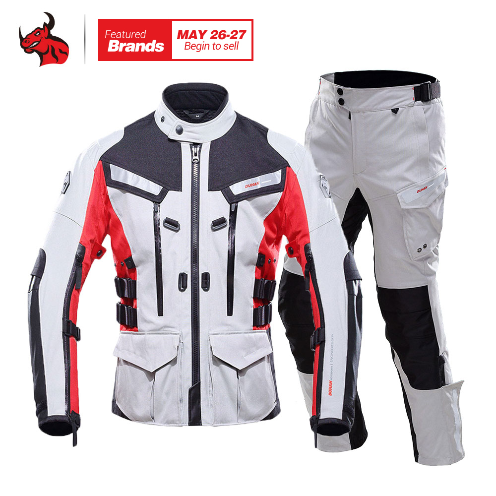 DUHAN Motorcycle Jacket Waterproof Moto Jacket Men's Motocross Clothing Motorcycle Suit With Elbow Shoulder Back CE Protector winter professional motorcycle jacket with shoulder