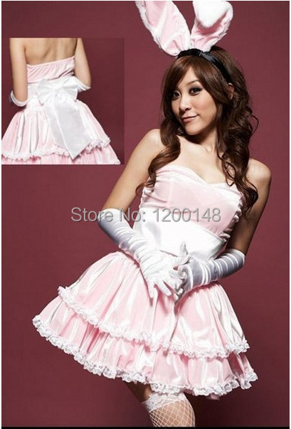 Новый кролик животных униформы хэллоуин косплей костюмы для взрослых женщин карнавал платье 4 цветов ( платье + головной убор + перчатки )