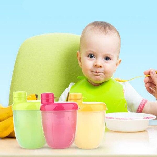 3 Сетки Детские Сухое молоко Распределитель, Кормление грудных детей Пищевых Контейнеров, путешествия Портативный Ящик Для Хранения Розовый Голубой Желтый M & B1113