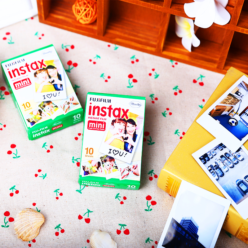 Genuine Fuji Fujifilm Instax Mini 8 Film 20 pcs White Edge Photo Papers For Polaroid 7s 8 90 25 55 Share SP-1 Instant Camera