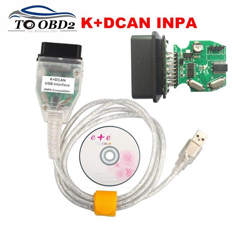 Prix pour INPA Compatible K + DCAN Ediabas Pour BMW Série De Voiture Vert PCB avec FTDI FT232RL OBD2 Lecteur de Code De Diagnostic Adaptateur Pour BMW INPA