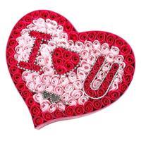 Hecho a mano de Degradado Simulación Rose Jabón de La Flor en Forma de Corazón del Favor de La Boda Perfumado Baño Home Fiesta de Cumpleaños de San Valentín
