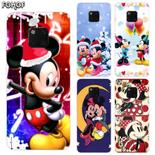 TPU Silicone Phone Back Cases For Huawei Mate 20X 20 10 9 Pro 8 7 Shell Hull Heart Bumper Cover Christmas Mickey Minnie
