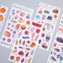 6 Pcs/Pack Cute Cartoon Drawing map Stickers Kawaii Planner Diary Scrapbooking Sticker Stationery School Supplies