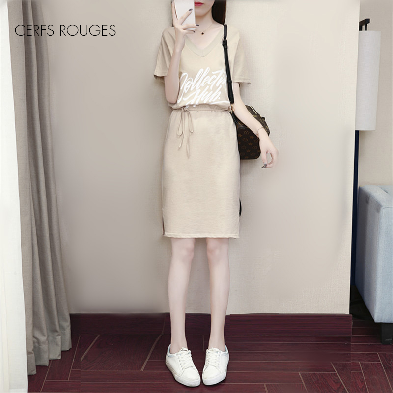 2018 chaud été coton lettre femmes robe pour femmes femmes vêtements femmes filles style Preppy au-dessus du genou Mini robe mignon