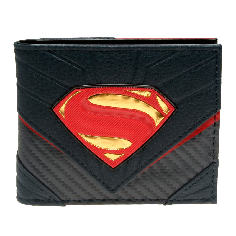 купить DC Comics Superman Bifold Wallet with Chrome Weld Patch DFT-13006 по цене 868.38 рублей