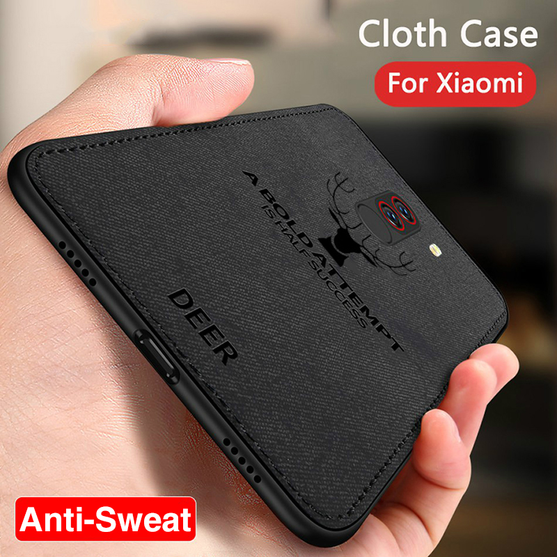 Luxury Deer Cloth Phone Case For Xiaomi Mi A3 9T Poco F2 Pro A2 Light 9 Lite Mi9T Case Tpu Cover For Xiomi Redmi Note 7 8 Pro 8T(China)