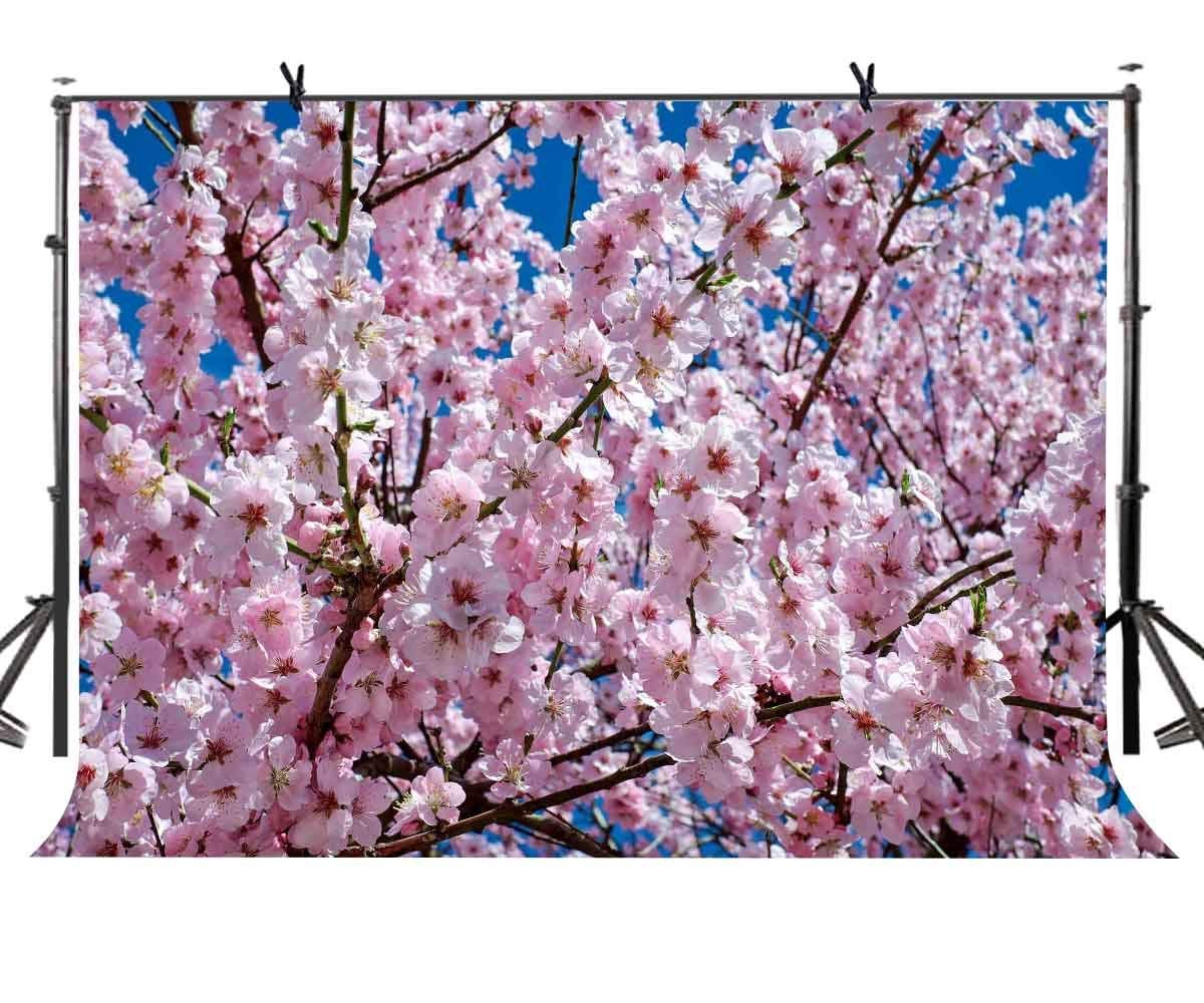 7x5ft Peach blossom Backdrop Beautiful pink peach photography background and Studio Photography Props