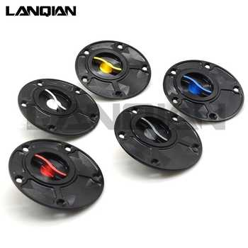 For Yamaha YZF R1/3 R6 R15 R25 R125 R1M Motorcycle Accessories CNC Aluminum Fuel Tank Cover Fuel Cap Gas Tank Cover Petrol Cover