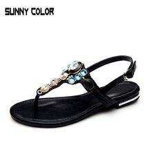 2017 Summer Flat Sandals Ladies Bohemia Beach Flip Flops Shoes Gladiator Women Shoes Sandles platform Zapatos Mujer Sandalias
