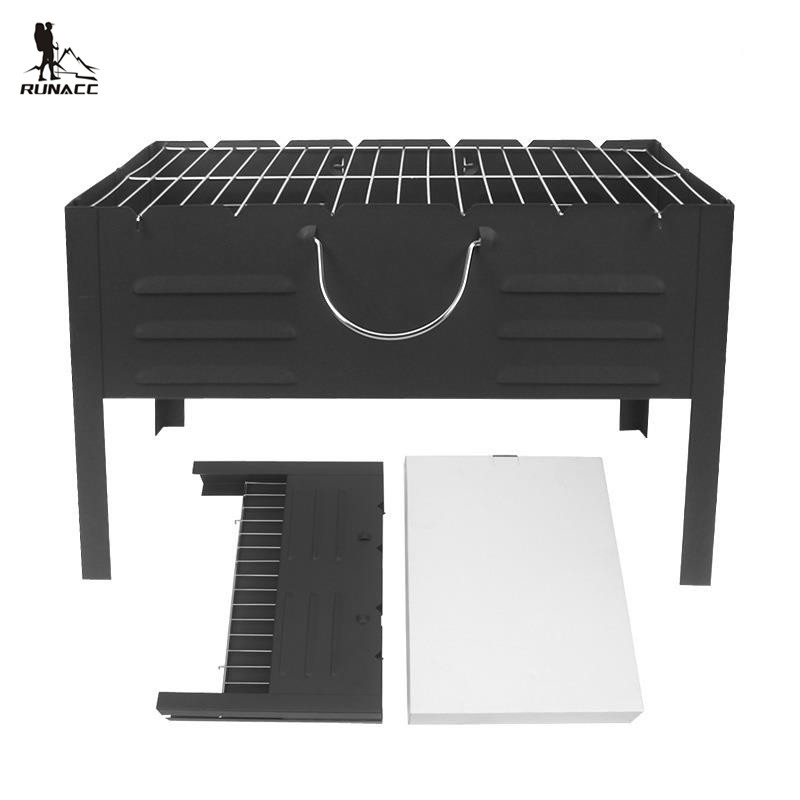 RUNACC Folding Notebook Barbecue Grill Charcoal BBQ Grill Portable Barbecue Grills Environment-friendly and Safe Alloy hewolf portable size outdoor camping beach bbq barbecue grill rack household use lightweight folding picnic rack stand well sell