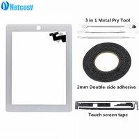 Netcocsy שחור/לבן מסך מגע החלפת digitizer לוח עבור ipad 2 iPad2 A1395 A1396 A1397 Tablet מסך מגע & קלטות
