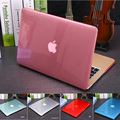 Nuevo cristal \ caja transparente mate para apple macbook air pro retina 11 12 13 15 bolso del ordenador portátil para macbook air 13 funda + regalo