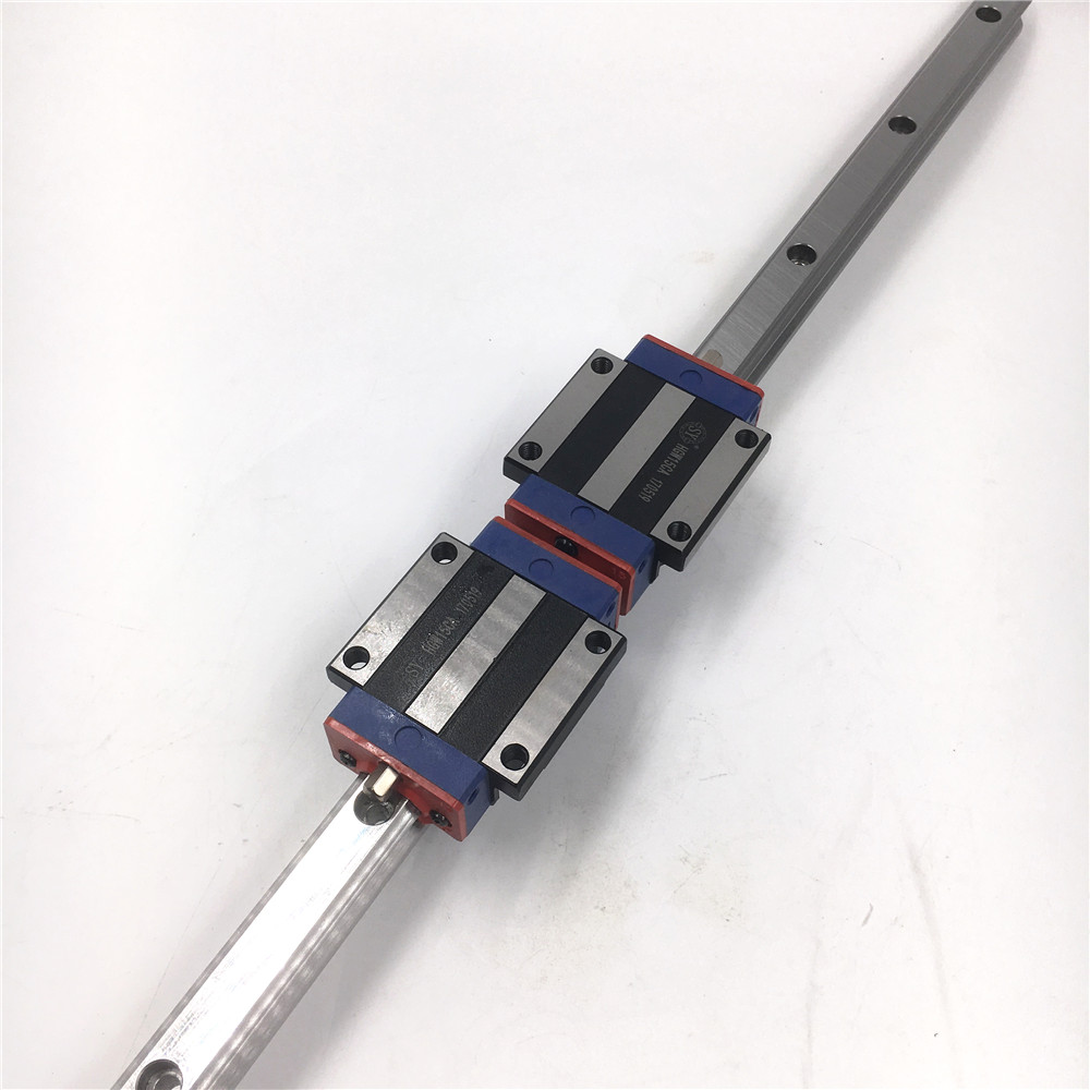 купить HGR15 Linear Rail Guide 15mm L1500mm Linear Guideway + 2pcs Flange Long Rail Carriage Block HGW15CC for CNC Router Replace HIWIN онлайн
