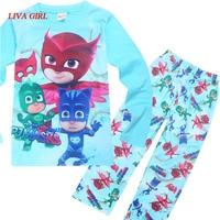 Funny Party Kids Cosplay PJ Masks Costumes For Boys Girls PJ Mask Hero Children Pajamas Set