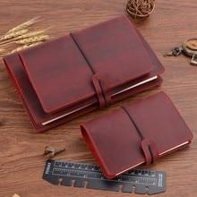 Получить скидку Ручной работы Винтаж кольца связующего Тетрадь A5 A6 A7 Размеры ежедневник Bullet Journal скетчбук для рисования канцелярские товары