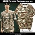 Temor De Deus para Fins Turísticos Camisetas Homens Algodão de Alta Qualidade O-pescoço Camuflagem Hip Hop T-shirts de Manga Curta Moda Justin Bieber