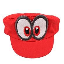 2018 Cosplay Super Mario Odyssey sombrero adulto niños Anime béisbol gorras  Unisex hecho a mano ajustable sombrero rojo ad515553b65