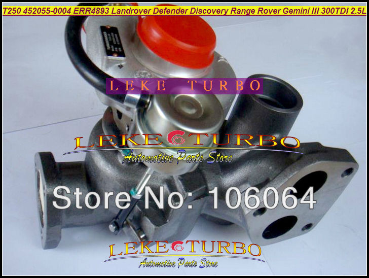 Free Ship T250-04 452055-0004 452055 Turbo Turbocharger For Land Rover 90 110 Discovery Defender Range Rover 90- Gemini III 2.5L free ship turbo gt1749s 466501 466501 0004 28230 41401 turbocharger for hyundai h350 mighty ii 94 98 chrorus bus h600 d4ae 3 3l