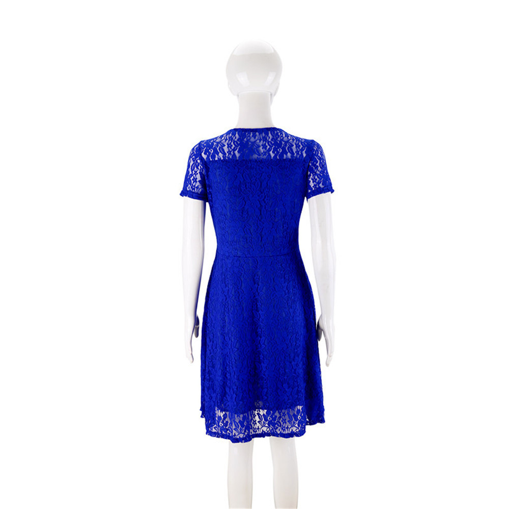 England Blue Lace Dress Print Polyester Oneck Embroidery wrinkle Pleated RED blue temptation Night Club sexy party Cute dresses in Dresses from Women 39 s Clothing