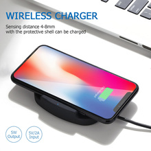 Esobest 5W wireless charger for iphone X 8 plus Samsung S6 edge S7 edge S8 plus portable fast charger QI phone charger