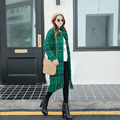 [TWOTWINSTYLE] 2017 Spring Coats Long Sleeve Turn Down Collar Hem Tassel Lattice Woolen Women Coat New Fashion