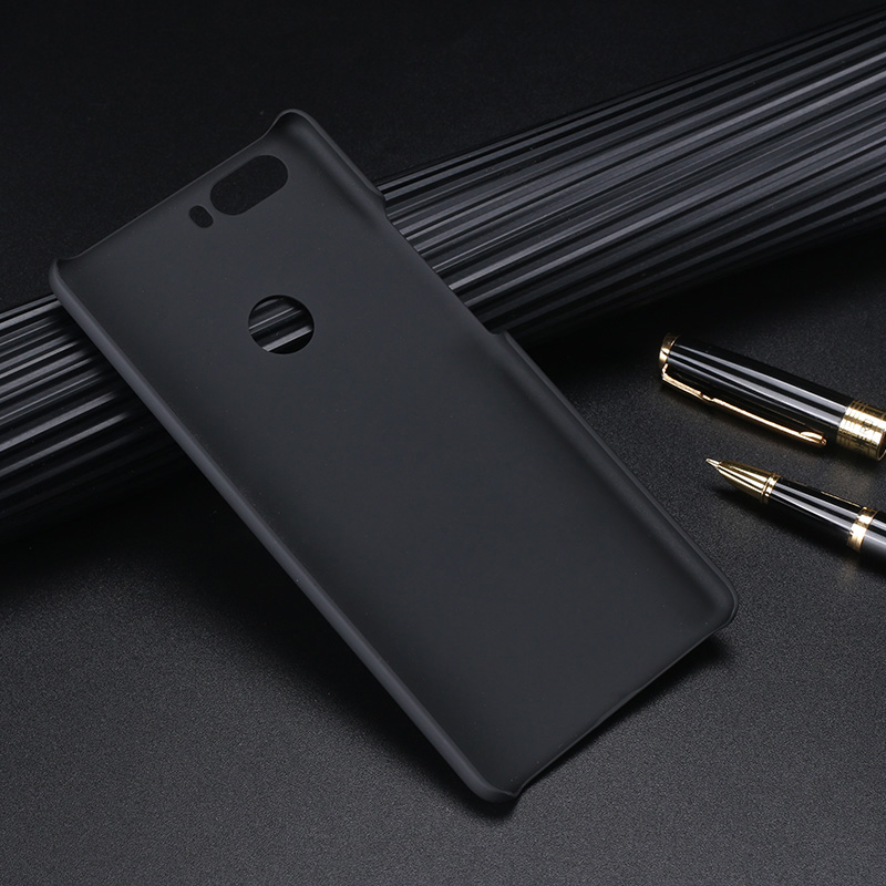 ZTE1359B_2_Pure Color Frosted Plastic Protective Case for ZTE Nubia Z17 Lite