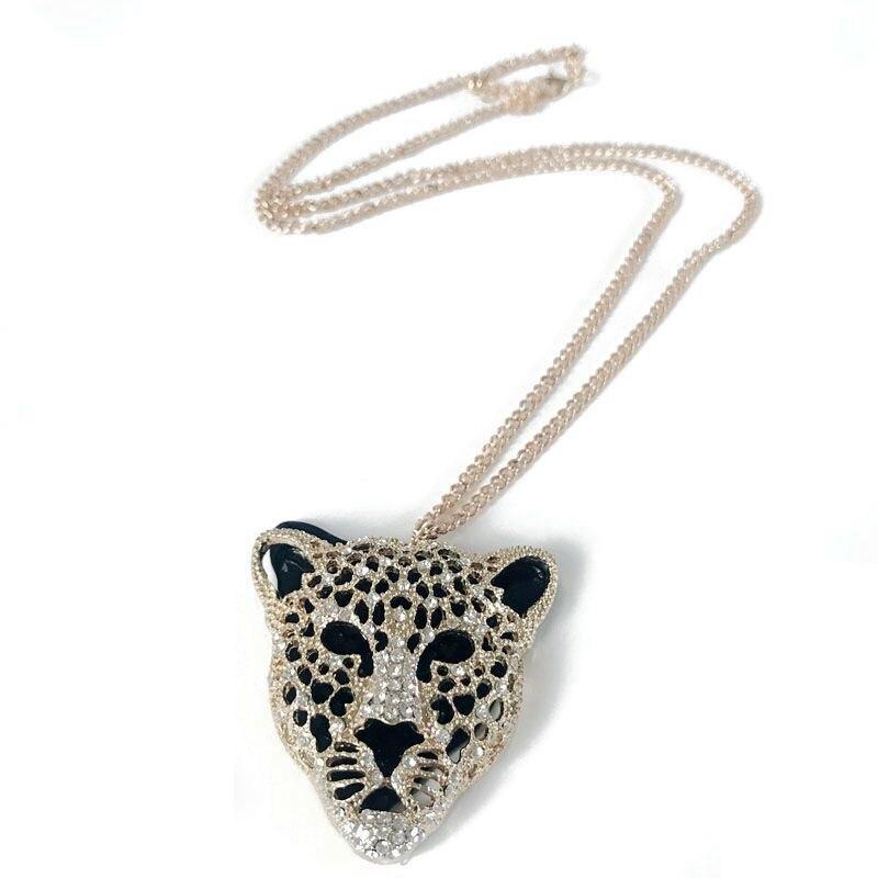 Kostenloser Versand Leopard Kopf Legierung Anhänger Halskette
