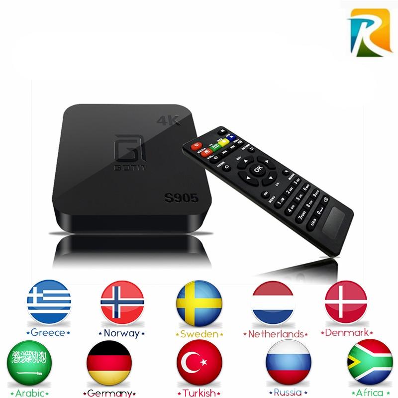 Arabic IPTV Europe Royal IPTV Russian French Android MX TV BOX S905 Quad Core Smart TV 1G/8G XBMC/Kodi Miracast Android TV Box mx plus ii android tv box quad core amlogic s905 1g 8g rom smart tv box led display kodi 14 2 full loaded airplay apk