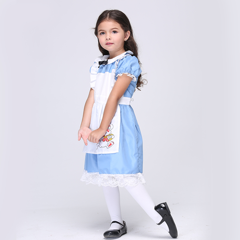 Direct Selling Girls Alice In Wonderland Movie Role-Play Disguise Cosplay Party Performance Halloween Fancy Dress Costume EK027 advanced child iv training arm injection arm