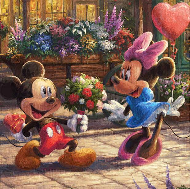 Hot Sale Lukisan Disney Mickey Mouse DIY 5D Diamond Lukisan Cross Stitch Persegi Berlian Resin Bordir Kit Dicetak