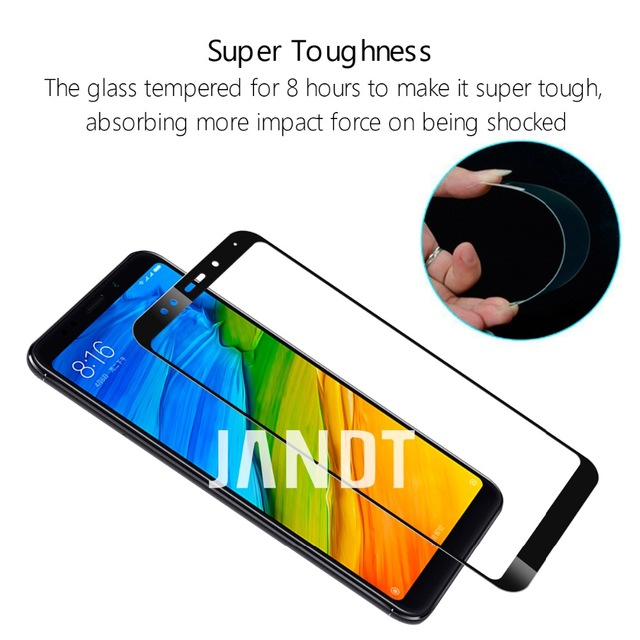 for xiaomi redmi 5 plus screen protector redmi 4 4A 4X 5A note 4 4X 5A 5 PRO 6 tempered glass film full cover case accessories