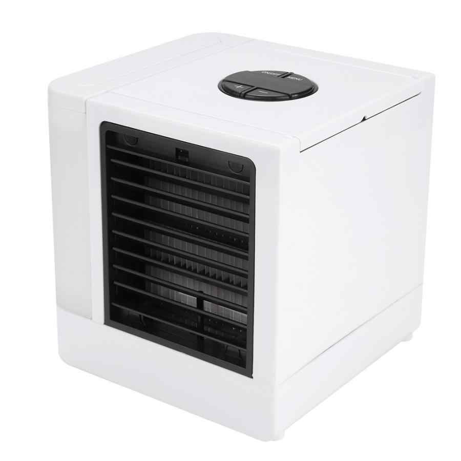 Baru Bladeless Fan Ultra Air Cooler AC Portabel dengan LED USB Mini Desktop Fan AC untuk Rumah